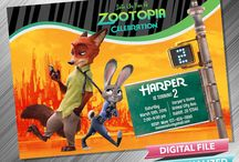 Zootopia Birthday Invitation and Party Printable Idea
