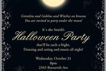 Convite de festa Halloween