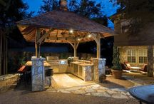 outdoor kitchens / by Tina Dalton