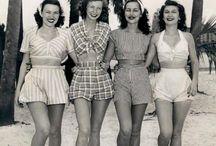 moda letnia i plażowa lat 40