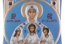 Notre dame Virgin Mary Greek Orthodox icon