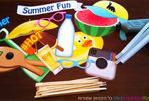 DIY - How to make a cool Summery photo set / Want your guests to take pictures of the awesome time they are having in your party? Follow these instructions foe a very easy #DIY of a cool, summery photo set
