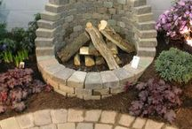 Fire pits in the back yard