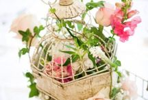 Birdcage Flowers / We adore flowers enclosed in bird cages for decorations.