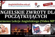 ANGIELSKIE ZWROTY - Lekcje Video MP3 / Darmowe Lekcje Języka Angielskiego uczące głównie angielskich zwrotów i zdań. Materiały video MP3 do szybkiej nauki przez Internet Online bez wychodzenia z domu.