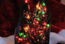 luminarias de garrafas
