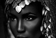 Headdress beauty warrior photoshoot