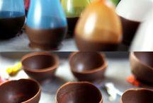 Tigelas de chocolate