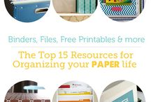DIY organizing {paper} / by Mel the Crafty Scientist