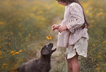 Pets & Girls / Full of love and cuteness in these photos