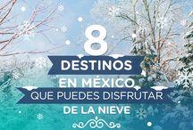8 destinos en México que puedes disfrutar de la nieve