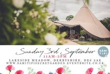 The Secret Garden Wedding / The most enchanting outdoor wedding showcase. Be inspired of how your outdoor wedding could look and feel at this stunning NEW wedding site in Ednaston, Derbyshire.  Sunday 3rd September 11am - 3pm  FREE tickets are available at  samitipisecretgarden.eventbrite.co.uk