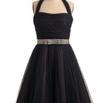 Little Black Dress / Mission: to find a Black Tea Length Bridesmaid Dress featuring a natural waist and modest bosom.