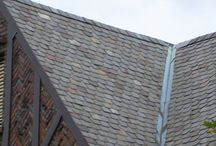 Roofs and Roofing Materials / Various historical and contemporary types of roof coverings and roofing planes to cover our homes and barns - fiberglas shingles, wooden shakes, metal, and other materials.