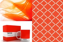 Tangerine Tango / Tangerine Tango is Pantone's 2012 Color of the year.  Check out Surya's pillows, poufs and rugs in this hot red-orange hue!