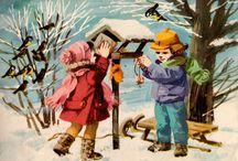 zima - ilustracje