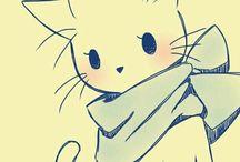 аниме животные
