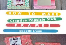 Popsicle Stick Crafts / Popsicle Stick Crafts is great for kids and adults too. Popsicle Stick Picture Frames, Popsicle Stick Ornaments, Popsicle Stick Bridge and more ideas! #PopsicleStickCrafts