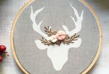 Hoop Art / Inspiration for hoop art. A great way to display your favourite fabrics and crafts.