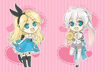Alice in Wonderland chibi set