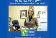 Our Staff / Discover Long Island and stay at the award winning Holiday Inn Express Stony Brook Hotel. Affordable rates and minutes away from many Long Island attractions. Please visit http://www.stonybrookny.hiexpress.com for lodging.