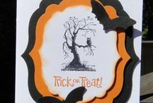 Hallowe'en / spooky, funny, creepy and hallowe'en-y!  Find cards, 3D projects, treat holders, banners and more