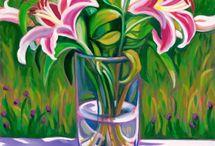 flores pinceladas