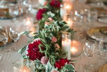 Reception Table Floral Garlands / Inspiration for garlands running down the centre of the reception tables for the wedding reception