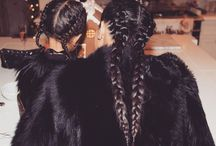Long hair plait