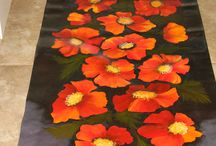 Canvas painted floor mats / by Patricia Hildebrant