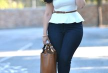 Curvy style trousers