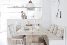 Keuken inrichting / Welke tafel stoelen en bank