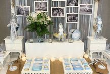 rustic boys christening