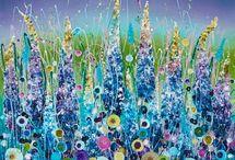 Leanne Christie / Stunning Floral Artworks.  Originals and Hand embelished limited edition prints.
