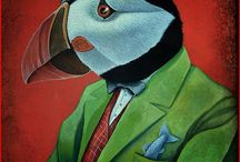 Animal Artwork / Recent oil paintings, drawings and illustrations