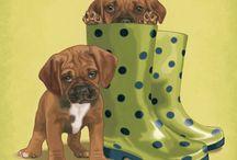 Рисуем щенков