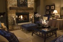 fireplace possibilities / by Tasha Vanden Heuvel