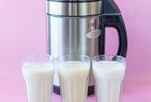 Vegane Milch, Sahne und Nusscremes