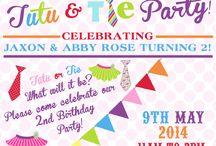 Tutu & Tie Party Ideas Luné & Kayley