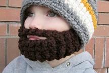 beard hats - knit/crochet