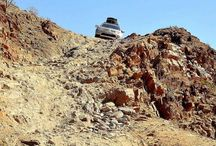 Pajero Sport can do anything / Pajero Sport coming down van Zyl's Pass, Kaokoland, Namibia. This pass has recently been described in a SA motoring magazine as one of the most difficult and dangerous passes in Southern Africa.