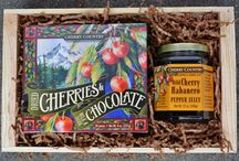 Cherry Country Gift Crates / We make a variety of gift crates featuring our finest Cherry Creations and Freddy Guys Hazelnuts.  For more information, visit www.thecherrycountry.com