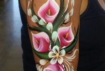 Bloemen schmink