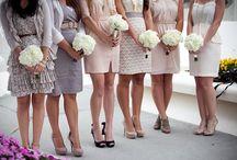 Mis-matched Bridesmaid dresses