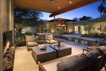 Outdoor patio pool area