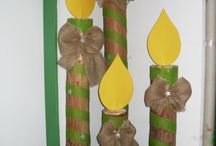 Adventní svíčky z tubusu