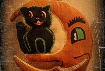 HANDMADE VINTAGE HALLOWEEN CUT-OUTS / HANDMADE VINTAGE HALLOWEEN ORNIES/TUCKS.  THESE ARE MY ORINAL PATTERNS.....ALL HAND PAINTED
