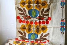 vintage and thrifted textiles
