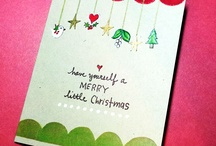 Stamped Holiday / Christmas Cards