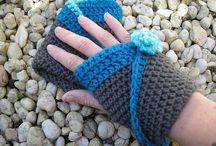 Crochet Scarves Gloves Hats etc